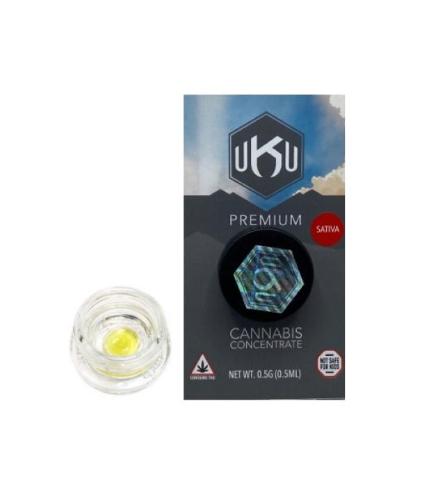 UKU Pure Wax .5g: Sour Diesel  (Sativa dom.)