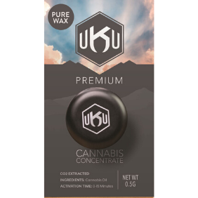 UKU Pure Wax .5g: 9D4 R1 (Indica dom.)