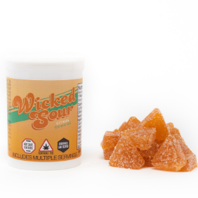 Wicked Sour Gummies (100mg): Citrus