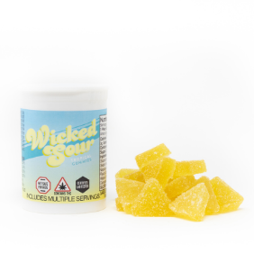 Wicked Sour Gummies (100mg): Tropical